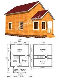 проекты дачных домов 6x6